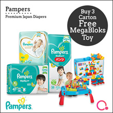 [PnG] [USE COUPONS!] BUY 3 CARTON GET 1 FREE MEGABLOK TOY Baby Dry Diapers/Premium Care Pants/Tape