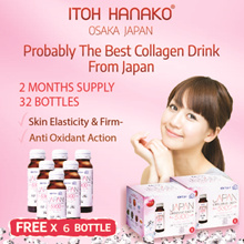 #1 Made in Japan★ITOH Japan CrystalCollagen 5300★2 Months Supply★FREE 6 Bottles