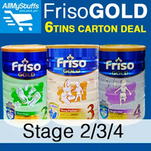 【FRISO】Gold Milk Powder (Stage 2-4) 1.8kg x6 CANS ● BULK PROMO ●