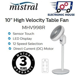★ Mistral MHV998R MIMICA Remote High Velocity Table Fan 10 Inch ★ (3 Years Warranty on Motor)