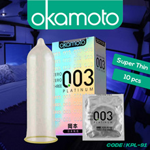 KONDOM OKAMOTO PLATINUM 0.03 KONDOM - CONDOM MADE IN JAPAN SET ISI 10PCS - KPL-91