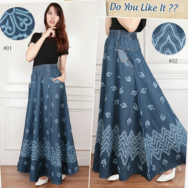 SB Collection Skirt Umbrella Niyya Maxi Jeans Woman Deals for only S$24 instead of S$0