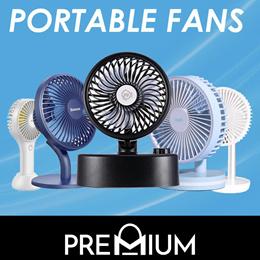 BASEUS Mini USB Rechargeable Air Cooling Fan Clip Desk Fan Dual Portable Desktop Office Fan