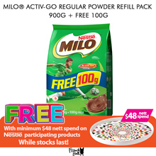 [[Milo]] MILO® ACTIV-GO Regular/Australian Recipe Powder Refill Pack 900g + FREE 100g