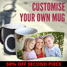 ★25% OFF SECOND PC★ Customise Your Mug Today! Magic Colour Changing Mug White Mug [Fast Delivery]