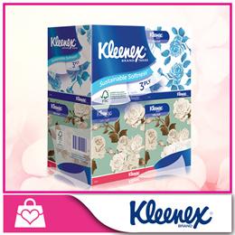 [Kleenex] Facial Tissue Floral Cube 4×45pcs