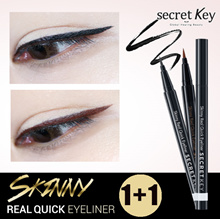 【Secret Key HQ】❤1+1❤Skinny REAL QUICK Waterproof Eyeliner/Delicate brush/Long Lasting/Smudge Proof