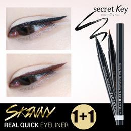 【Secret Key Half-yearly Super Sale】❤1+1❤Skinny REAL QUICK Waterproof Eyeliner/Delicate brush