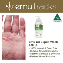 200ml Emu Oil Liquid Hand and Body Wash. Suitable for dry skin/eczema/rash/psoriasis