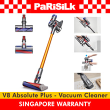 ⭐⭐FREE DELIVERY⭐⭐ DYSON V8 Absolute Plus CORDLESS VACUUM CLEANER - SINGAPORE WARRANTY