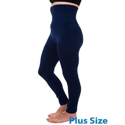 1833489727 High Waist Tummy Control Full Length Legging Compression Top Pants Fleece  Lined Plus Size XL 2XL