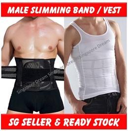 Men Body Belly Shaper Vest Slim Slimming Lift Body Corset Shirt Sports Belt Sauna Sweat Waist Tummy