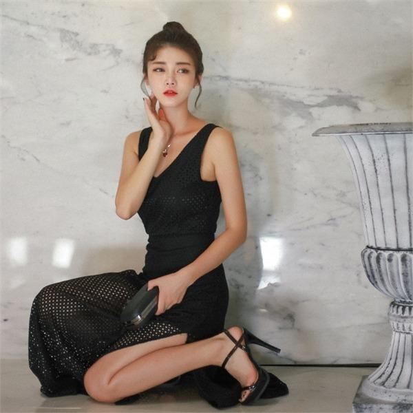 ブレンニュロングワンピースメクシロンつなぎnew Hライン/スリムフィットワンピース/ワンピース/韓国ファッション