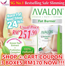【USE SHOP +CART COUPON TO DISCOUNT】SG #1 Best Selling AVALON™ Fat Burner ★ Safe Slimming ★ Weight Loss ★ Diet [60 capsules/box]