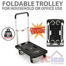 Foldable Platform Trolley (180 KG). Durable Castors and Non-Slip Platform Good for Home and Office