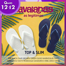 [HAVAIANAS] ♥12.12 Promotion♥Flat price 13 Type TOP&SLIM  Flip flop slipper / 2 for Free shipping