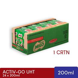 Milo Activ-go UHT 24 x 200ml Original RTD CartoonBox