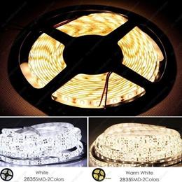 5M 2835 SMD 600Leds 120led/M IP65 Waterproof LED Strip Cool White / Warm White Flexible Strips Light
