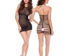 New Hot Sale Sexy Lingerie See Through Lingerie Sheer Mesh Black Underwear Sleepwear Free shipping