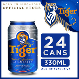 Tiger Beer 330ml x 24 Cans. Expiry April 2020. FREE Tiger Beer Mobile Ring!!