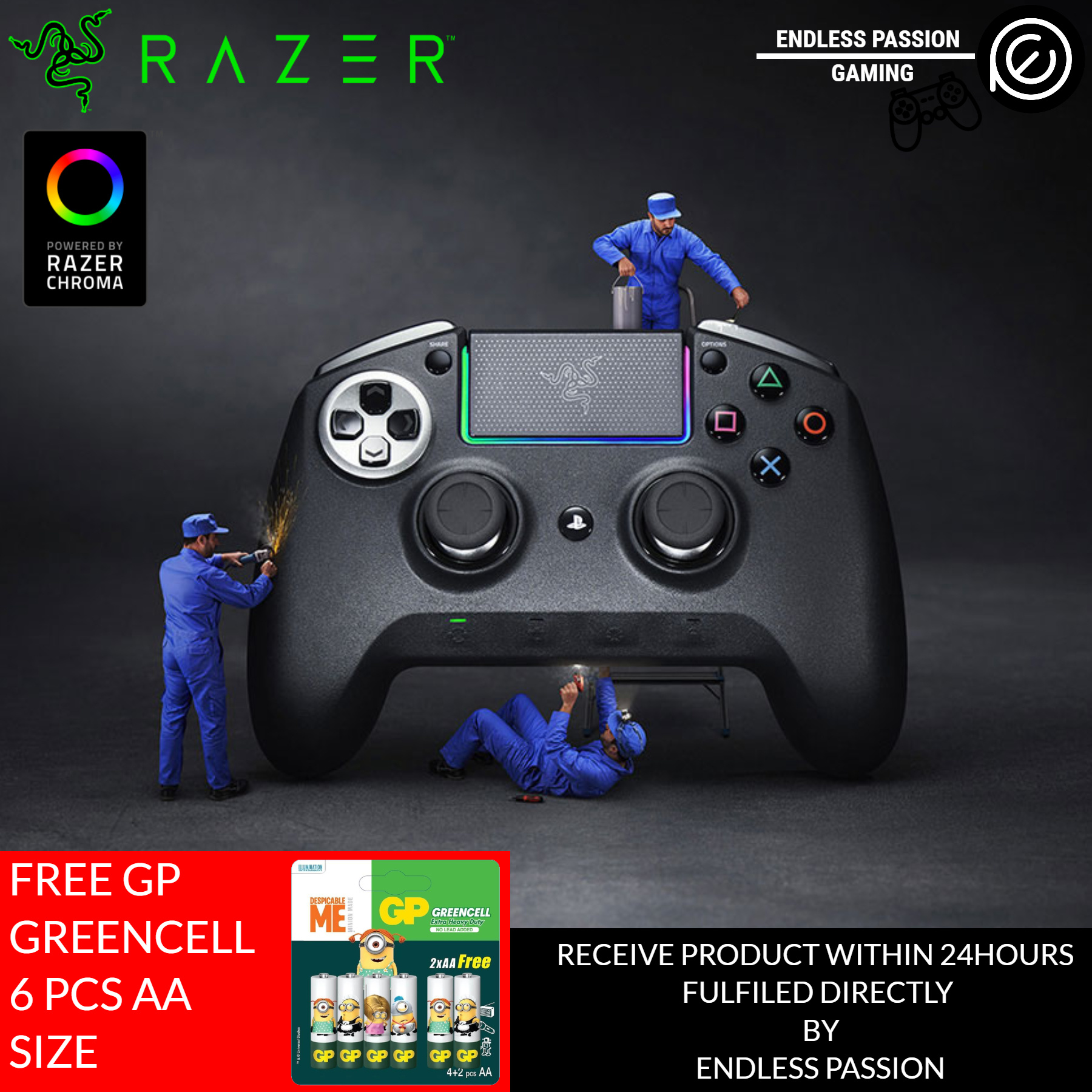 RazerRazer Raiju Ultimate Wireless and Wired Gaming Controller with Mecha  Tactile Action Buttons