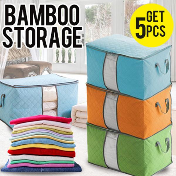 [PROMO HEMAT] *GET 5 PCS* Storage Bag Baju Organizer Bamboo Tempat Penyimpanan Charcoal Bambu Deals for only Rp100.000 instead of Rp100.000