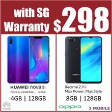 Huawei Nova 3i 4GB RAM / 128GB ROM | Realme 2 pro 8GB RAM / 128GB ROM | Both 2 Year Warranty