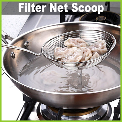 Gdlife Life Stainless Steel Filter Net Scoop Steamboat Deep Fry Essential Kitchen Tool 2 Types