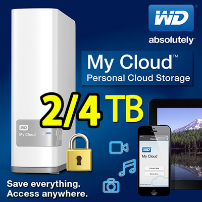 DAISO」- WD MyCloud 2TB 4TB HDD / Personal My Cloud Backup
