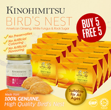 [BUY 5 FREE 5] Kinohimitsu Bird Nest 6s | American Ginseng | White Fungus *Bundle Pack*