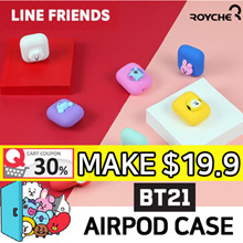 [BT21 by BTS] Apple AirPods Case ★ SHOOKY / COOKY / KOYA / TATA / CHIMMY / RJ / MANG Created by BTS