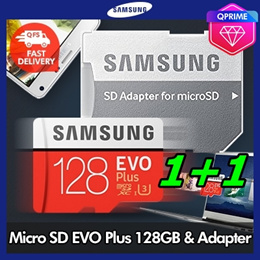 [Bundle of 2 / $75.9] SUPER DEAL ★Original★ Samsung Micro SD EVO Plus 128GB with SD adapter