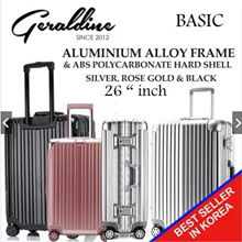 [Ready In-Stock] Many Size Available New Improved Hard Shell Luggage Aluminium Alloy Frame ABS Polyc