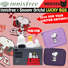 2018 Lucky Box! [innisfree×SNOOPY]  Dreaming Lamp / Jeju orchid enriched cream /orchid intense cream