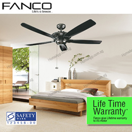 ★★ FANCO Air Track ★★ Ceiling Fan 48 56 inch. Local LIFE TIME Warranty by fanco Aluminum Motor. Comes with remote wall regulator LED Lights. WH MS GM AB Singapore Safety Mark