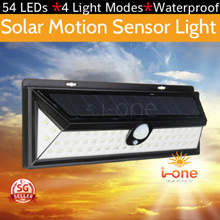54 LED Solar Light PIR Motion Sensor Light Garden Outdoor Pathway Solar Wall Light