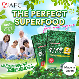[Buy1 Free Chlorella120s]★AFC King Chlorella Superfood packed with chlorophyl★Suitable for Families