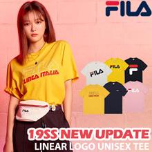 [FILA] ♥ 2019 New Update ♥ Unisex Linear Logo Short Sleeve Basic T Shirt / 100% Authentic