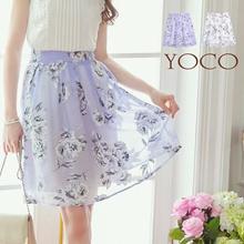 YOCO - Floral Midi Skirt-6005626