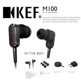 [KEF] M100 Hi-Fi In-Ear Headphones - Titanium Grey /