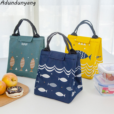 Hot Thermo Lunch Bag Cooler Bags Women Kids Thermal Lunchbox Food Picinic Handbag