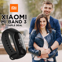 [Couple Bundle] Xiaomi Mi Band 3 (Black) OLED Touch Screen Water Resistant Sports