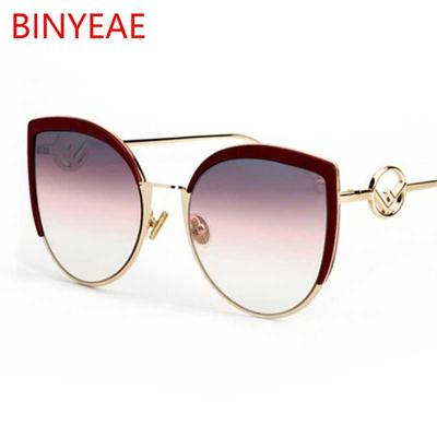 d220a4952e319 Brand Sexy Cat Eye Sunglasses High Fashion Women 2018 New Designer Big Sun  Glasses Female Gradient