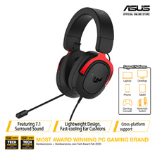 ASUS TUF Gaming H3 Gaming Headset - Virtual 7.1 surround sound / Lightweight design / 50 mm ASUS Essence dr. Cross Platform Support for PC PS4 Xbox One and Nintendo Switch 7.1 - Silver. Local Stocks!