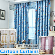 Cartoon Blackout Curtains. Finished products. Boy girl bedroom.Thick curtain shade cloth. Children gauze curtains. High Quality Curtain ★ 90% Sunlight Blockout ★ Condo/House Curtain ★ Stylish Design★