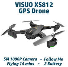【VISUUO XS812】【LH-X28G-WF】Foldable Daul-GPS Drone ★ Follow Me ★ 5M 1080P HD Camera