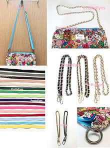 Sling bag strap chain strap seat belt strap messenger strap wristlet leather chain strap jujube