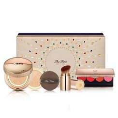 O HUI The First Ampoule Cover Cushion Special Set  SPF50+/PA+++ : Free Brush + Lip Palette