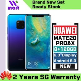 (Local Official Warranty) Huawei mate20 Pro l mate20 X 6+128GB (2 Years Huawei Singapore Warranty)