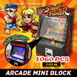 Arcade Mini Block Street Fighter Toy Catching Games Optional with LED Lamp Realistic Details